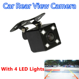 Wholesale 170 Degree 4 Led Night Vision Car Rear View Camera Hd Video Waterproof Auto Parking Monitor Reversing Ccd