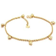 18k Yellow Gold Anklet Foot Chain Never Fade Leg Bracelets - intl