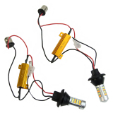 For Sale 1Pair Bau15S 2835 42 Led 50W Dual Color Car Switchback Drl Turn Signal Light Kit