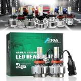 1Pair H11 Combo Led Total 160W 16000Lm High Low Headlight Kit 6000K White 3 Sided Dc12 24V Intl China