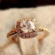 1pc Princess Square Diamond Ring Luxury Elegance Fashion Wedding Ring - Intl By Viviroom.