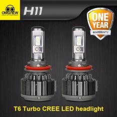Sale 1Set Original Owlview Cree Chip H11 H4 H7 H1 H13 H3 9005 9006 9007 Cob Led Car Headlight Bulb Hi Lo Beam 72W 8000Lm 6000K Auto Headlamp 12V 24V Intl Owlview Branded