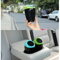 1x Mini Car Rubbish Dustbin Can Bucket Trash Can Garbage Dust Case Box Car Organizer Trash Bin Mini Storage Barrel (green) - Intl By Yoursmile Store.