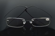 Sale 2 Reading Glasses Titanium Alloy Only 2G Frame Super Light Rimless Ultra Light Superelastic Reader Read See Near Book Tv Computer Phone Newspaper Non Spherical Oem Online
