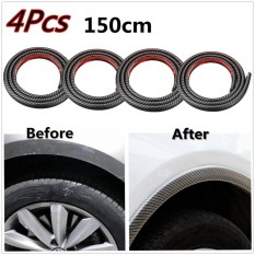 Price 2 Pcs 118 Black Car Fender Flare Extension Wheel Eyebrow Moulding Trim Protector Lip Intl China