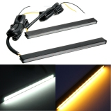 Buy 2 Pcs 15 Led Driving Daytime Running Drl Turn Signal Light 2 Colors White Amber Export Cheap On China