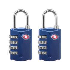 Shop For 2 Pcs 4 Digit Tsa Lock Resettable Combination Travel Bag Luggage Suitcase Lock Padlock Blue
