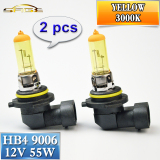 Discount 2 Pcs 9006 Hb4 Halogen Lamp 12V 55W Car Headlight Bulb 3000K Yellow Oem China