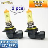 2 Pcs 9006 Hb4 Halogen Lamp 12V 55W Car Headlight Bulb 3000K Yellow Free Shipping