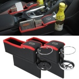 2 Pcs Car Seat Crevice Storage Box With Interval Cup Drink Holder Organizer Auto Gap Pocket Stowing Tidying For Phone Pad Card Coin Case Accessories Intl Review