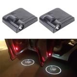 List Price 2 Pcs Led Ghost Shadow Light Car Door Led Laser Welcome Decorative Light Display Logo For Kia K3 Car Brand Black Intl Oem