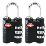 2 Pcs New Arrive 3 Dial Tsa Approved Security Lock For Travel Luggage Suitcase Bag Black On Line