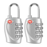 2 Pcs Tsa Approval 4 Dial Combination Security Padlock Code Lock For Travel Suitcase Luggage Intl Shop