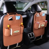 Top Rated 2 Piece Car Multifunction Storage Bag Brown Intl
