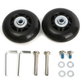 Price 2 Set Luggage Suitcase Replacement Wheels Axles Rubber Deluxe Repair Od 64Mm New Intl China
