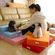 Buy 2 Step Pet Stair Portable Dog Puppy Cat Sofa Bed Indoor Soft Folding Ramp Ladder Green Intl