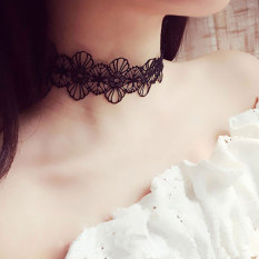 Wholesale 2016 Best Quality Ladies S*Xy Simple Choker Lace Flower Party Collar Necklace Black