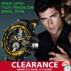 Buy Cheap 2017 Best Quality Sanda 732 Multifunctional Outdoor Sports Waterproof Shockproof Electronic Watch Gold)