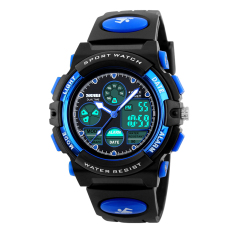 Best 2016 High Quality Skmei 1163 Students Noctilucent Multifunctional Outdoor Sports Waterproof Electronic Watch Blue