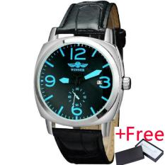 Who Sells 2016 Winner Watches Men Luxury Brand Automatic Self Wind Mechanical Fashion Casual Date Wristwatches Artificial Leather Strap The Cheapest