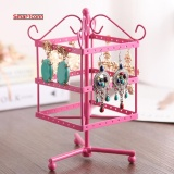 Deals For 2017 Hot Sale Earrings Jewelry Display Rack Metal Stand Holder Showcase Jewelry Organizer Holder Intl