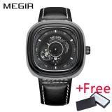 2017 Megir Ml3012G Original Luxury Men Watch Classic Leather Military Watches Automatic Mechanical Wristwatch Clock Intl On Line