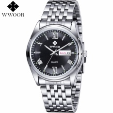 Who Sells 2017 Men Watches Top Brand Luxury Day Date Luminous Hours Clock Male Silver Stainless Steel Casual Quartz Watch Men Sports Wristwatch 8802 Intl The Cheapest