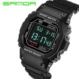 Latest 2017 New Sanda Digital Watch Men Waterproof Led Men S Watch Sports Mens Watches Top Brand Military Reloj Hombre Erkek Kol Saati Intl