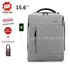 2017 Tigernu Square External Usb Charging Port Laptop Backpack Fit For 12 15 6 Laptop3269 Intl Coupon Code