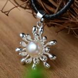 Buying 2017 Winter New Sunflower Freshwater Cultured Natural White Pearl Pendant Intl