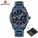 Buy 2018 Hot Naviforce Business High End Men Watch Waterproof Full Steel Date Fashion Quartz Watches Luminescent Sports Wristwatch Relogios Masculino Intl Online