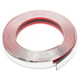 Get Cheap 20Ft 30Mm Silver Chrome Self Adhesive Car Edge Styling Moulding Trim Strip Intl