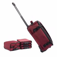 Best Offer 22 Inch Maroon Foldable Luggage Extendable Trolley Easy Folding Free Delivery