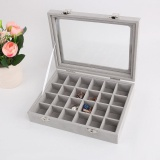 24 Grids Velvet Jewelry Case Storage Box For Rings Earrings Necklaces Bracelet Intl Best Buy