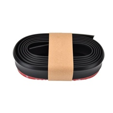 2.5m/roll Rubber Lip Skirt Protector Universal Car Front/rear Lip Bumpers Decorate Scratch Resistant Bumper Wrap Strip Color:black - Intl By Super Star Mall.