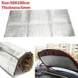 Great Deal 2Pcs 100X50Cm Car Noise Sound Proofing Deadening Insulation 5Mm Intl