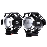 Discounted 2Pcs 125W 12V 3000Lm U5 Led Transform Spotlight Motorcycle Headlight Black Intl