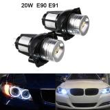 Brand New 2Pcs 12V 1200Lm 20W Headlight Angel Eye Ring Marker Halo Light Led For Bmw E90 E91 Conversion