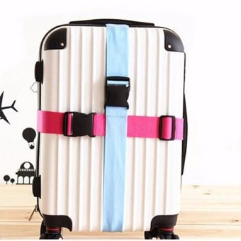 2PCs Adjustable Suitcase Luggage Straps Travel Buckle Baggage Tie Down Belt Lock Black
