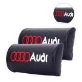 Price Comparisons For 2Pcs Car Neck Pillow Racing Style Lovely Breathe Car Auto Head Neck Rest Cushion Headrest Pillow Pad For Audi Microfiber Pu Leather Racing Style Intl