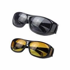 2pcs Hd Night Vision Driving Sunglasses Sun Glasses For Best Friends Lovers - Intl By La Vie Store.