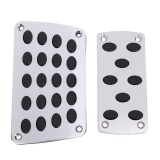 Lowest Price 2Pcs Manual Aluminium Car Auto Truck Nonslip Brake Clutch Pedal Cover Set Intl