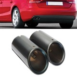 Best Reviews Of 2Pcs New Black S Line Exhaust Muffler Tail Pipe Tip For Audi A4 B8 Q5 1 8T 2 0T Intl