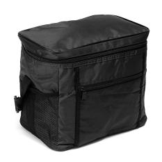2pcs Travel Portable Waterproof Thermal Cooler Insulated Tote Picnic Lunch Ice Bag Black - intl