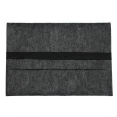 Best 2Pcs Woolen Felt Envelope Laptop Sleeve Bag Case Cover For Apple Macbook Pro 15 15 4Inch Dark Gray Intl