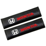 2Pcs Set Universal Cotton Seat Belt Shoulder Pads Covers Emblems For Honda Civic Crv Accord Badges Auto Accessories Car Styling Fit All Cars Intl Sale