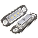 Compare Prices For 3 Led White Number License Plate Light Lamp For Volvo S80 S60 C70 V70 C30 S40
