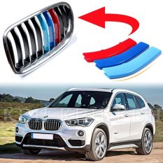3 Pcs M Tech Kidney Grill Grille 3 Color Cover Stripes Clips For Bmw X1 F48 8 Slats Intl For Sale