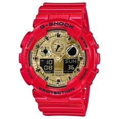Casio G Shock Men S Red Resin Strap Watch Ga 100Vla 4A Limited Edition Chinese New Year Intl Casio G Shock Discount