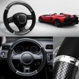 38Cm Black Universal Carbon Fiber Steering Wheel Cover Car Decoration Breathe Intl Lowest Price